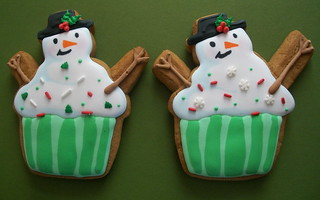 Snowman Cupcake Cookies | by Brenda's Cakes - Ohio