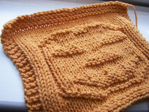 Pumpkin dishcloth | by Twisted Knitter