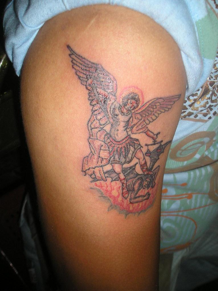 Arcangel Tatuajes tattoo arcangel miguel   tatuaje realizado a mano alzada con…   flickr