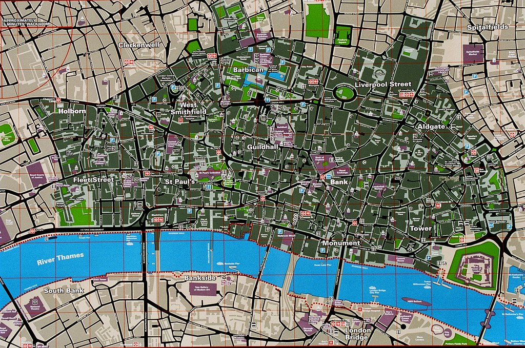 tourist map city of london by sonica photography