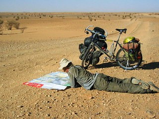 Map reading in the desert | by www.AlastairHumphreys.com