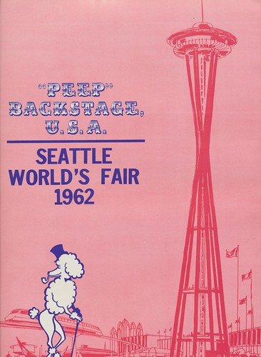 """Peep"" Backstage U.S.A. (Back Cover) - 1962 Seattle World's Fair 