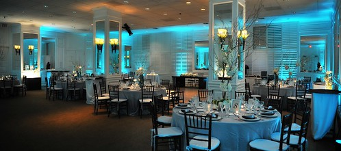 Royal Palm Ballroom with Blue Lighting | by thepalmshotel