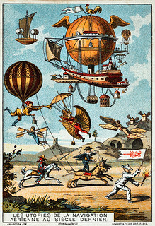 Utopias of aerial navigation in the 18th Century, early flight collecting card, ca. 1895 | by trialsanderrors
