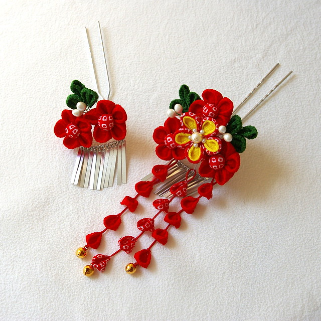Tsumami Kanzashi Amp Other Japanese Hair Accessories Flickr