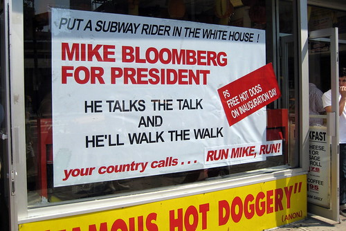 NYC - UWS: Gray's Papaya - Mike Bloomberg for President | by wallyg