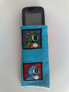 Puzzle Bobble double-faced mobile/mp3 player case 2 | by TheNurse84