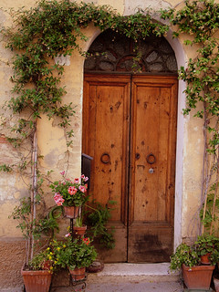 Flowered Tuscan Door | by Donna Corless