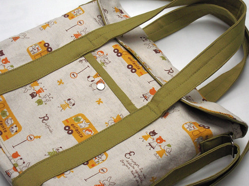 how to make a book bag out of fabric