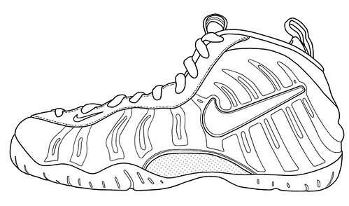 foamposite coloring pages | Nike Foamposite Pro blank.jpg | eric.hideo | Flickr