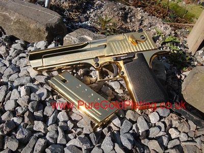 Assembled Gold Desert Eagle