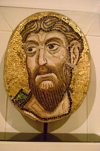 Mosaic Head of an Apostle stone glass and gold leaf Byzantine from the Church of Santa Maria Assunta Torcello Italy made about 1075-1100 CE restored in the 1100s and 1800s | by mharrsch