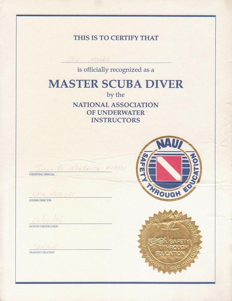 Naui Master Scuba Diver Certification Jonathan Bannon Maher Flickr
