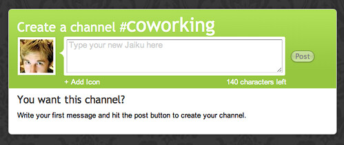 Jaiku | Create a Channel | by factoryjoe