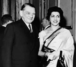 President Iskander Mirza with his wife Naheed | by Doc Kazi