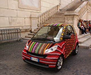 Crocheted Smart Car | by StartTheDay