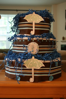 The Diaper Cake Traci made | by Mrs. Flinger