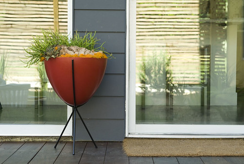 Red Retro Bullet Planter | by laurannedolly