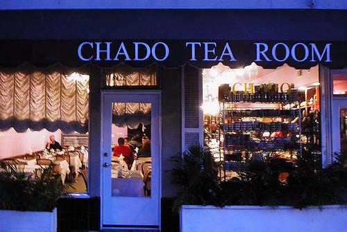Chado Tea Room At Twilight West Third St Los Angeles