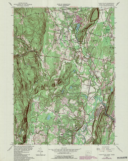 Tariffville Quadrangle 1984 - USGS Topographic Map 1:24,000 | by uconnlibrariesmagic