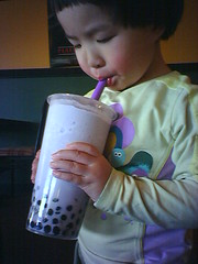 Taro bubble tea | by C.Y.