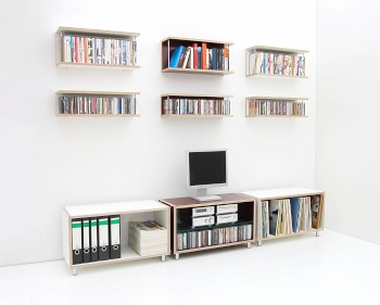Boksa Media Wand Mit Cd Dvd Regal Media Storage Wall Flickr