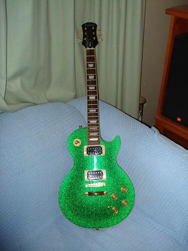 epiphone les paul standard green sparkle cairns ben flickr. Black Bedroom Furniture Sets. Home Design Ideas