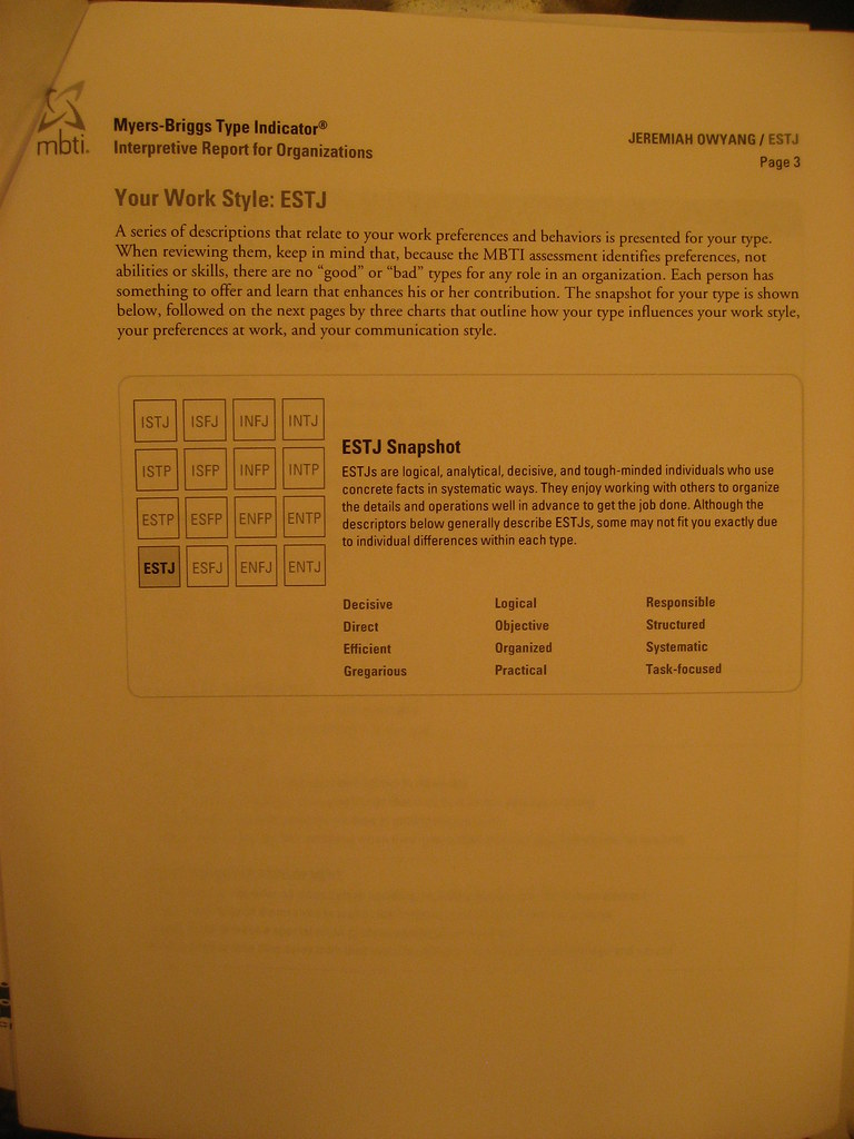 Myers Briggs Personality Assessment Paper