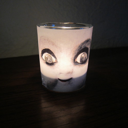 Creepy Doll Candle | by katbaro