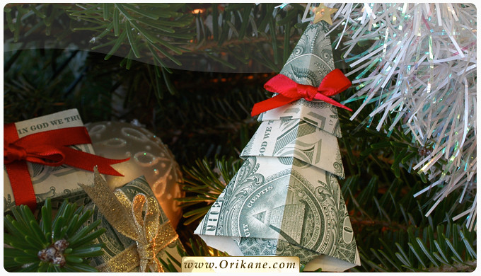 ... NEW: Money Origami Christmas Tree Instructions | by Orikane - NEW: Money Origami Christmas Tree Instructions Posted Via €� Flickr