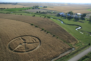 Crop Circle Created by Greenpeace and Iowa Farmers Union to Demand Clean Energy | by B.G. Johnson