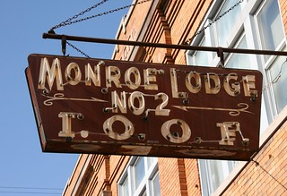 Monroe Lodge Sign: Madison, IN | by RickM2007