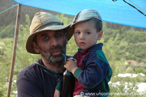 Father and Son in Hats - Svaneti, Georgia | by uncorneredmarket