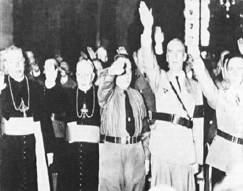 Catholic Bishops giving the Nazi salute in honor of Hitler | by padrone007