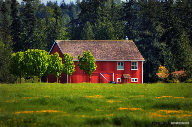 Little Red Barn In The Valley