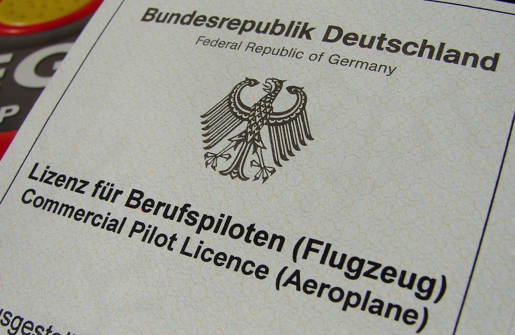 German Commercial Pilot Licence German Commercial Pilot Li Flickr