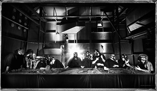 The Last Supper / La Cène / Ultima Cena B&W | by Abode of Chaos