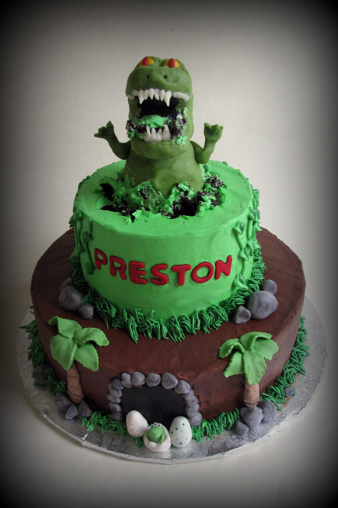 T Rex Birthday Cake Meghan Barkley Flickr