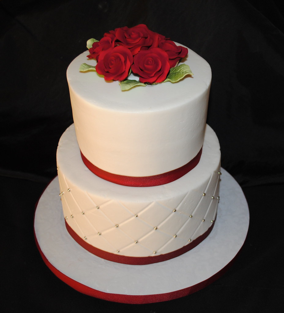 Small Wedding Cake | Just a simple wedding cake. Iced in but ...