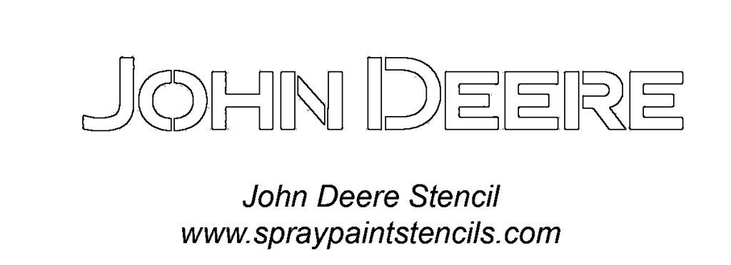 John Deere Logo Stencil