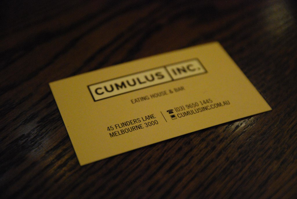 Business card - Cumulus Inc | Andrew McConnell has done it a… | Flickr