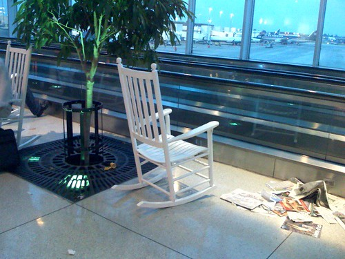 Rocking chair  At the charlotte airport, there were rocking ...