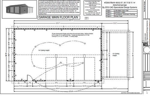 Rv garage plans g393 30 x 50 x 14 detached rv garage pla for 50 x 30 garage plans