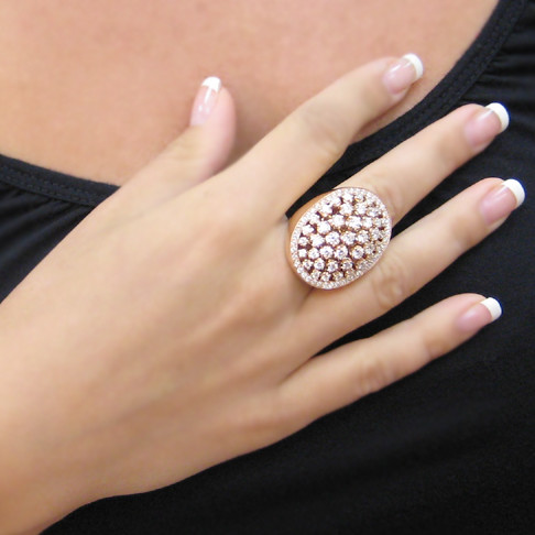 Rose Gold Big Ring Italian Jewelry Big bold ring that is…