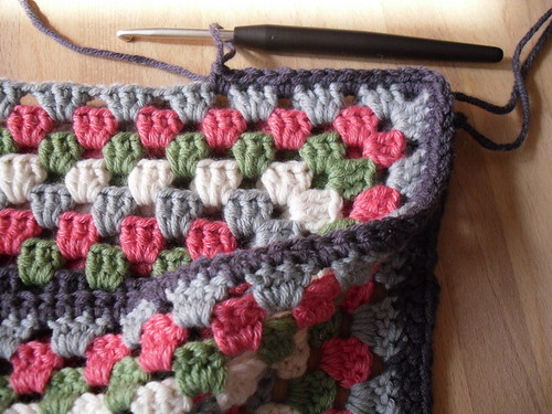 Granny Square cushion 2 sides | by TheCrocheteer