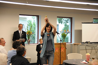 Professor Kathryn Leonard with award at the 2009 Celebration of Faculty Accomplishments | by California State University Channel Islands