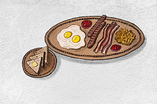 A breakfast very high in saturated fat | by Just some dust