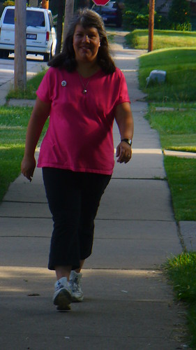 Mom walking