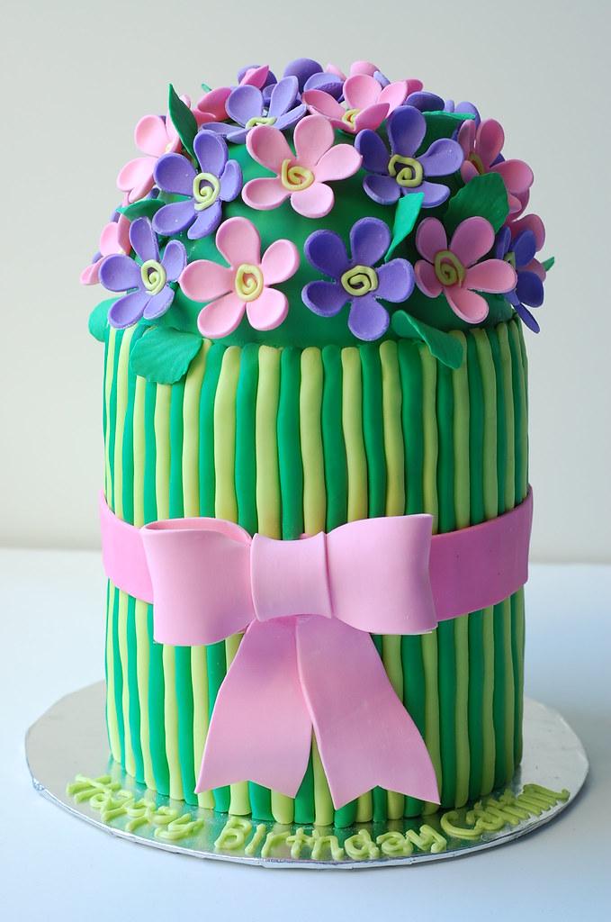 Caitlins Flower Birthday Cake Inspired By Peggy Porschen Flickr