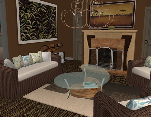 African inspired living room | The husband in this house is ...